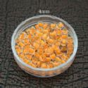 Bead, Seed beads, Glass, orange, Disc shape, 4mm, 25g, 275 Beads, (SSZ057)